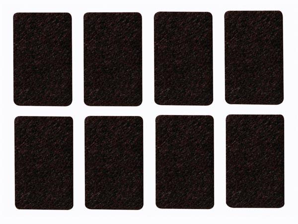 Sensationelle Filt tape - Rektankel, 30 x 48mm x 5 mm (8 stk.) ZK19