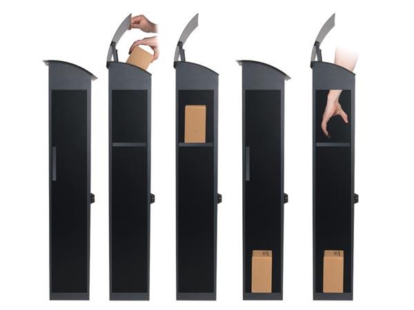 Storslåede Pakke postkasse (drop box) - HELSINKI, Mørkegrå BU97