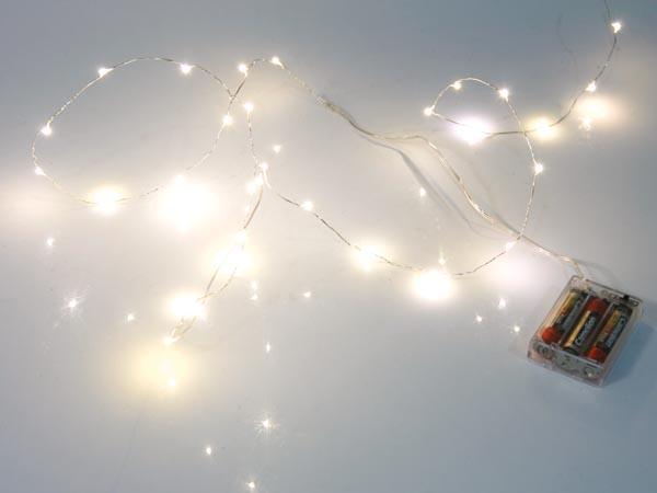 Frisk LED lyskæde - 20 Varm hvide LED pærer (2,2m) XX-94