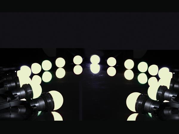 Moderigtigt Udendørs lyskæde m. 20 varm hvide LED pærer (11,5m) IP44 AT53